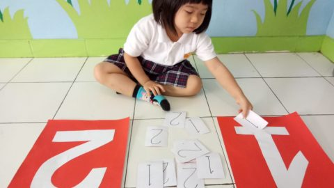 "Pre K Class ""Matching number (1 and 2)"""