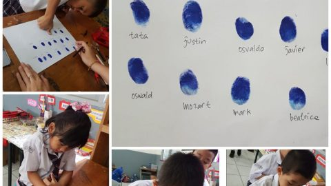 """Grade 1 """"Your very own fingerprints"""""""